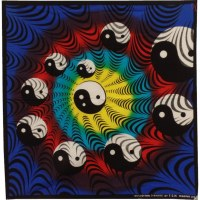 Bandana color yin yang