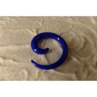 Elargisseur d'oreille bleu spirale