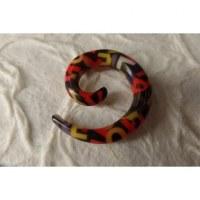 Elargisseur d'oreille spirale alphabet