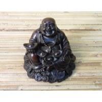 Bouddha assis résine Pu Tai fortune
