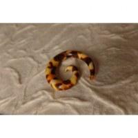 Elargisseur d'oreille spirale léopard