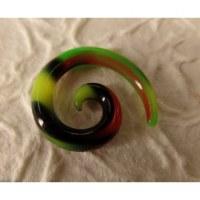 Elargisseur d'oreille camouflage spirale