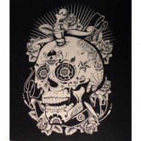 Maxi tenture noir/blanc skull joke