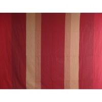 Tenture maxi Kérala rouge/bordeaux rayures larges