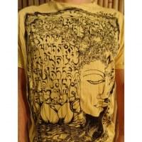 Tee shirt jaune Bouddha arbre