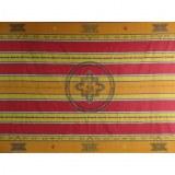Tenture Chitwan jaune/rouge Aum éléphant