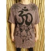T shirt Aum lotus prune