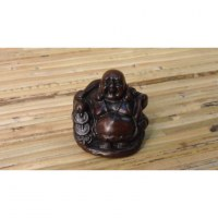 Petit Bouddha assis résine Pu Tai fortune