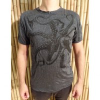 Tee shirt anthracite le poulpe