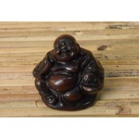 Petit Bouddha Pu tai et son éventail