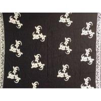 Mini tenture noir et blanc les lézards