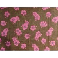 Petite tenture noire hibiscus violets