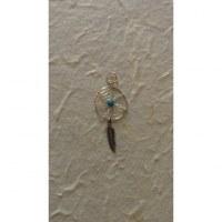 Pendentif dream catcher spider turquoise 1.4
