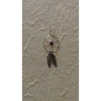 Pendentif dream catcher spider bordeaux 1.6
