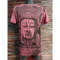 Tee shirt Bouddha Angkor bordeaux