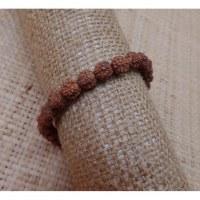 Bracelet mala 24 perles rudraksha
