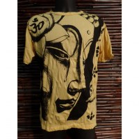 Tee shirt la larme de Bouddha jaune