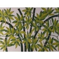 Petite tenture blanche bambou