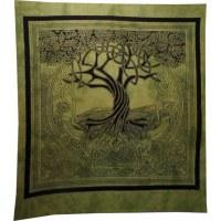 Tenture maxi arbre de vie celtique vert