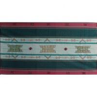 Tenture Pokhara vert noeud infini Bouddha eyes