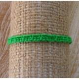 Bracelet flashy vert macramé 1