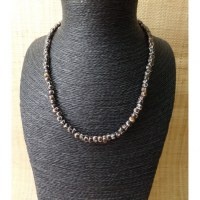 Mala 55 cm perles cercles en os teintés