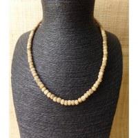 Mala 55 cm perles en os gravés