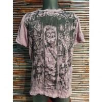 Tee shirt prune Bouddha en méditation