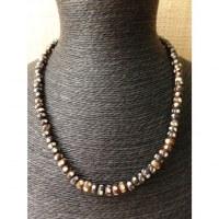 Mala 55 cm perles points en os teintés