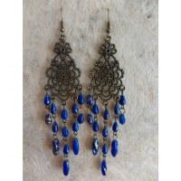 Boucles d'oreilles swi bleues