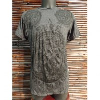 Tee shirt Om gris anthracite
