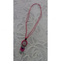 Collier attrape rêves iskwaaw rose