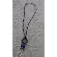 Collier attrape rêves iskwaaw bleu