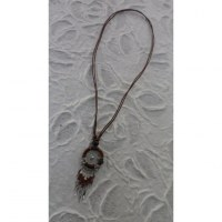 Collier attrape rêves iskwaaw marron