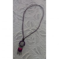 Collier attrape rêves iskwaaw violet