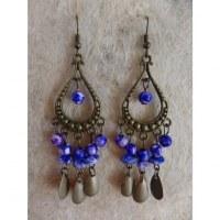 Boucles d'oreilles hyd violet