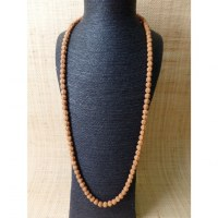 Mala 87 cm Rudraksha suméru turquoise/corail