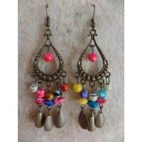 Boucles d'oreilles hyd multicolores