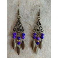 Pendants d'oreilles khimuk violets