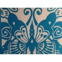 Petite tenture papillon bleu