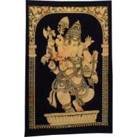Petite tenture jaune/noir Ganesh