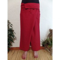 Pantalon Thaï Bang Saen rouge