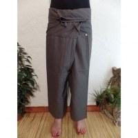 Pantalon Thaï Bang Saen gris souris