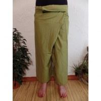 Pantalon Thaï Bang Saen vert pomme