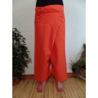 Pantalon Thaï Bang Saen orange vif