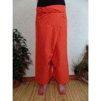 Pantalon Thaï Bang Saen orange vif