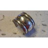 Bracelet manchette acier large