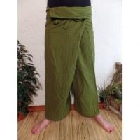 Pantalon Thaï Bang Saen vert prairie