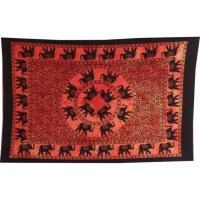 Petite tenture rouge la marche des éléphants