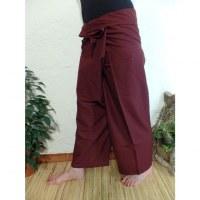 Pantalon Thaï Bang Saen lie de vin
